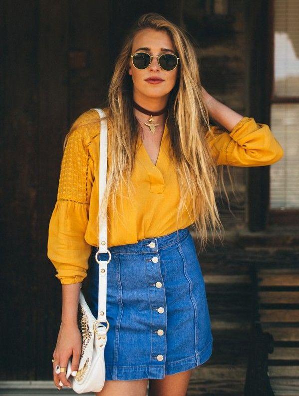 d407867fd5 8 Ways To Wear Denim Skirts | Etashee Blog
